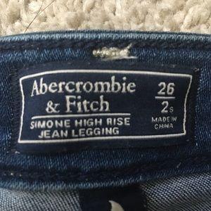 Abercrombie & fitch high rise jean legging